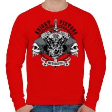 PRINTFASHION Király dugattyúk - Férfi pulóver - Piros
