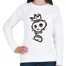 PRINTFASHION Királyi koponya - Női pulóver - Fehér