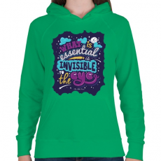 PRINTFASHION Kis herceg - Női kapucnis pulóver - Zöld