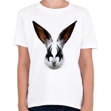 PRINTFASHION Kiss of a rabbit - Gyerek póló - Fehér