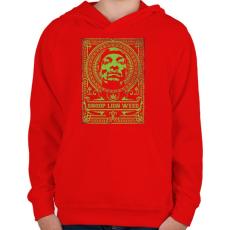PRINTFASHION Kiszagol - Gyerek kapucnis pulóver - Piros