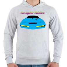 PRINTFASHION Knight Rider Synthwave - Férfi kapucnis pulóver - Sport szürke