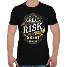 PRINTFASHION Kockázat - Férfi póló - Fekete
