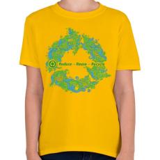 PRINTFASHION Körforgás - Gyerek póló - Sárga