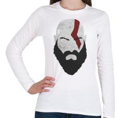 PRINTFASHION Kratos - Női hosszú ujjú póló - Fehér
