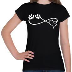 PRINTFASHION Kutya imádat - Női póló - Fekete
