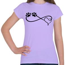 PRINTFASHION Kutya imádat - Női póló - Viola