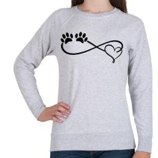 PRINTFASHION Kutya imádat - Női pulóver - Sport szürke
