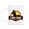 PRINTFASHION Lama Park - Bögre - Fehér