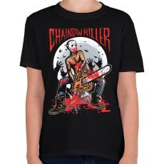 PRINTFASHION Láncfűrészes gyilkos - Gyerek póló - Fekete
