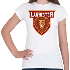 PRINTFASHION Lannister - Női póló - Fehér