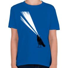 PRINTFASHION Laser crow - Gyerek póló - Királykék