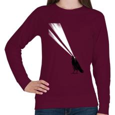 PRINTFASHION Laser crow - Női pulóver - Bordó