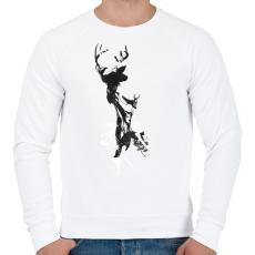 PRINTFASHION Last time I was a deer - Férfi pulóver - Fehér