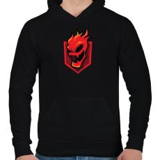 PRINTFASHION Lava - Férfi kapucnis pulóver - Fekete