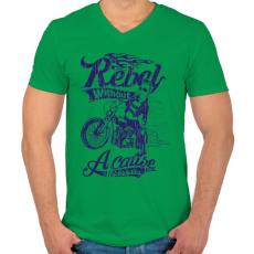 PRINTFASHION Lázadó - Férfi V-nyakú póló - Zöld