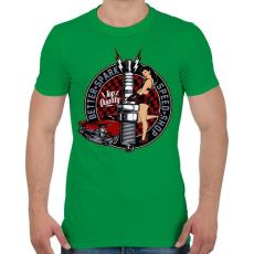 PRINTFASHION Legjobb szikra - Férfi póló - Zöld