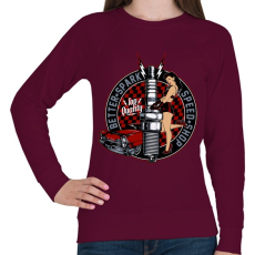 PRINTFASHION Legjobb szikra - Női pulóver - Bordó