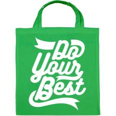 PRINTFASHION Légy a legjobb - Vászontáska - Zöld