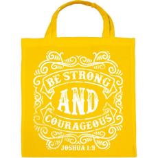 PRINTFASHION Légy erős és bátor - Vászontáska - Sárga