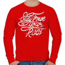 PRINTFASHION Legyen igaz - Férfi pulóver - Piros