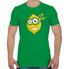 PRINTFASHION Lemon Hero - Férfi póló - Zöld