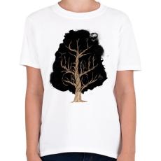 PRINTFASHION Let the tree grow - Gyerek póló - Fehér