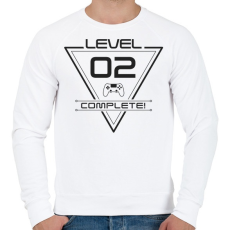 PRINTFASHION level-complete-02-gray - Férfi pulóver - Fehér