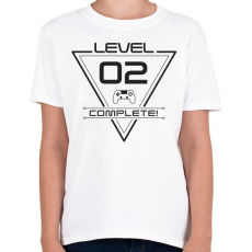 PRINTFASHION level-complete-02-gray - Gyerek póló - Fehér