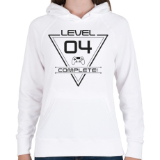PRINTFASHION level-complete-04-gray - Női kapucnis pulóver - Fehér