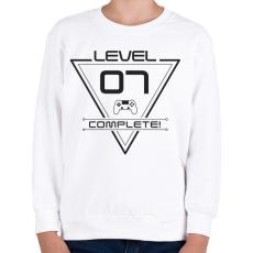 PRINTFASHION level-complete-07-grey - Gyerek pulóver - Fehér