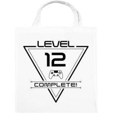 PRINTFASHION level-complete-12-black - Vászontáska - Fehér