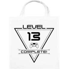 PRINTFASHION level-complete-13-black - Vászontáska - Fehér