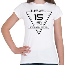 PRINTFASHION level-complete-15-black - Női póló - Fehér
