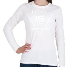 PRINTFASHION level-complete-15-white - Női hosszú ujjú póló - Fehér