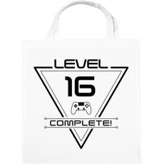 PRINTFASHION level-complete-16-black - Vászontáska - Fehér