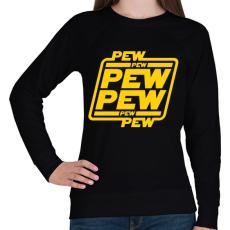 PRINTFASHION Lézerkardozás - Női pulóver - Fekete