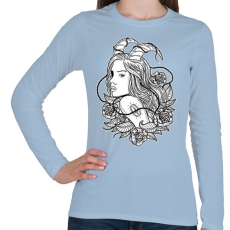 PRINTFASHION Lidérc - Női hosszú ujjú póló - Világoskék