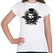 PRINTFASHION Lincoln - Vámpírvadász - Női póló - Fehér női póló