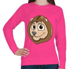 PRINTFASHION Lion - Női pulóver - Fukszia