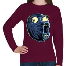 PRINTFASHION LOL - Női pulóver - Bordó