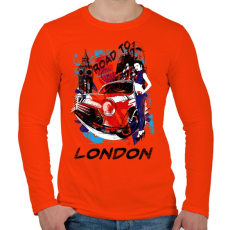 PRINTFASHION London utjain - Férfi hosszú ujjú póló - Narancs
