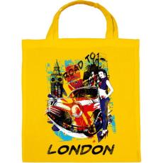 PRINTFASHION London utjain - Vászontáska - Sárga