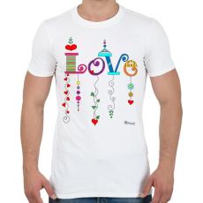 PRINTFASHION Love - Férfi póló - Fehér