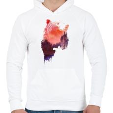 PRINTFASHION Love forever - Férfi kapucnis pulóver - Fehér