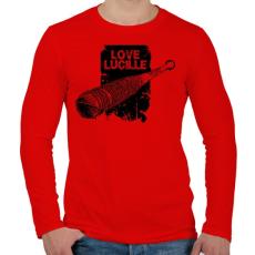 PRINTFASHION Love Lucille - Férfi hosszú ujjú póló - Piros