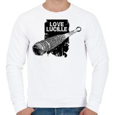 PRINTFASHION Love Lucille - Férfi pulóver - Fehér