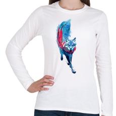 PRINTFASHION Lupus lupus - Női hosszú ujjú póló - Fehér