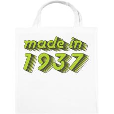PRINTFASHION made-in-1937-green-grey - Vászontáska - Fehér