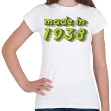 PRINTFASHION made-in-1938-green-grey - Női póló - Fehér